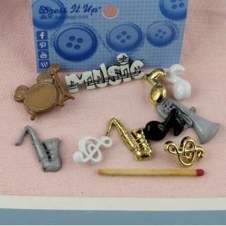 Bouton instruments musique orchestre.