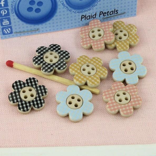 Buttons glitter autom flowers Dress it up