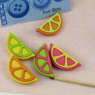 Fruit sliced buttons Dress it up