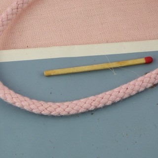 Knitted  cotton cord for jewelry, anorak, 4 mms,