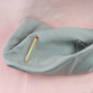 Tissu Soie pure rayée tissé teint carré habits poupée.
