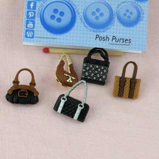 Purse buttons Dress it Up 3 cms.