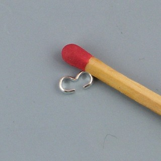 Connecteur Anneau double bijoux 5 mm.