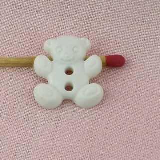Zierknopf Bär 15 mm