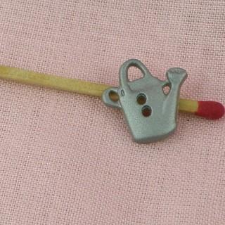 Boutons forme fleur, translucide mat, 1 cm, 10 mm.