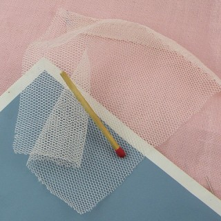 Synthetic pink tulle.