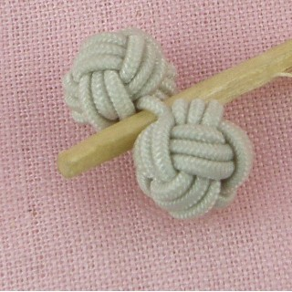 ball shank button in braided thread,, 1 cm.