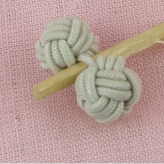 ball shank button in braided thread,, 1 cm.