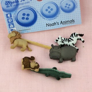 Buttons Dress It Up Noah's animals