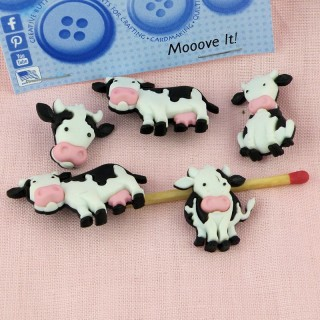 Dress it up buttons cow