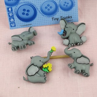 Buttons animals elephant Dress It Up,