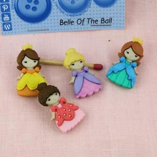 Ballet dance buttons Dress it up
