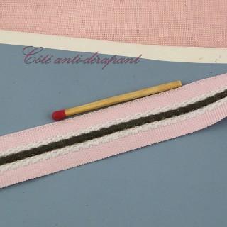 Ruban sergé coton écru 2cm, 20mm.