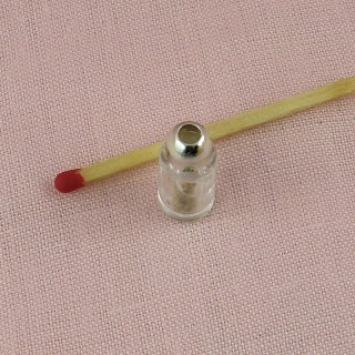 Tiny seasoning caning glass jar, miniature for doll house, 2,5 cms.