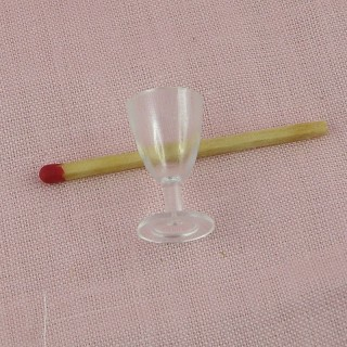 Miny wine glass dollhouse 2 cm