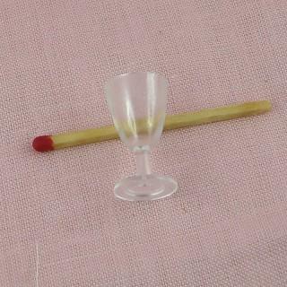Miny wine glass dollhouse 2 cm
