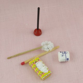 Toiletplunger bathroom accessories dollhouse miniature