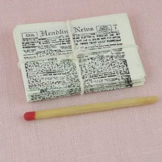 Pile Journaux miniature maison poupée