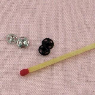 10 Boutons pression métal àcoudre 5 mm.