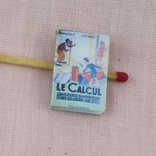 Livre de calcul miniature école maison poupée