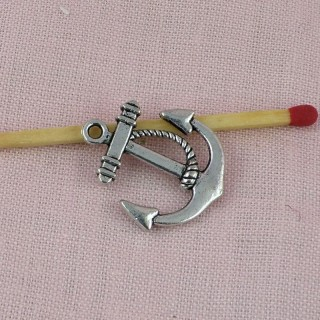 Pendant Anchor pirates boat, charm, miniature, 1,8 cm.