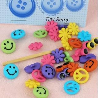 Hippie-Buttons Tasche Lächeln