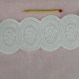 Broderie anglaise entre-deux pur coton, 6 cm