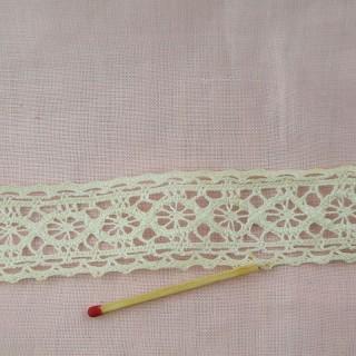 Thin Vintage double edged lace cotton, trim 30 mms.