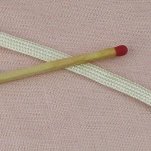 Ribbon gimp satiny brightly 6 mms..
