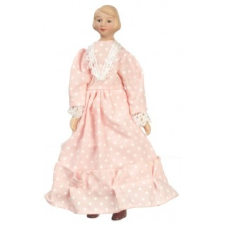 Miniature dollhouse lady mother 1/12