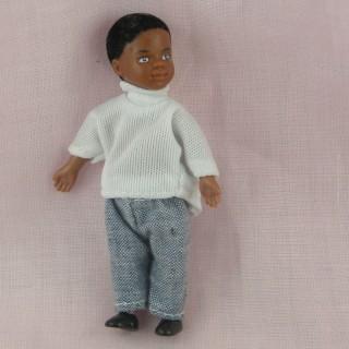 Black Boy cminiature 1/12 for dollhouse 9 cms
