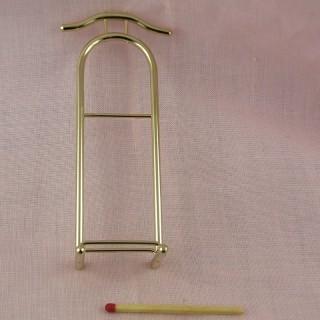 Porte serviettes bois miniature maison poupée 16 cm.