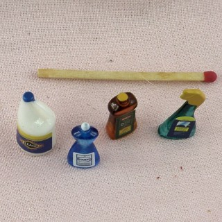 Cleaning supplies dollhouse miniature