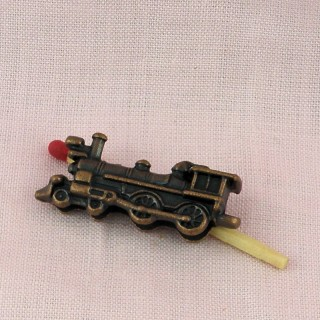 Lokomotive Spielzeugeisenbahn Haus Puppe