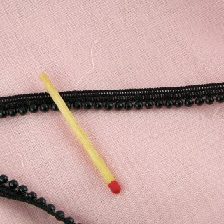 Black Pearls piping 6 mm