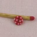 Polka dot 2 holes buttons 7 mms.