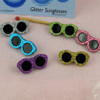 Sunglasses glitter buttons Dress it up