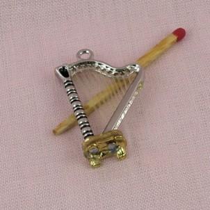 Harpe Instrument musique miniatures poupée