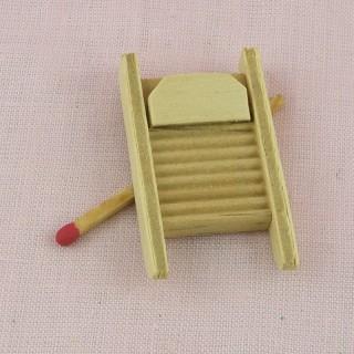 Tabla de lavar miniatura de madera 4 cm