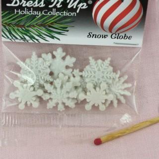 Botón Dress it up, copos nieve, deportes de invierno, Navidad.