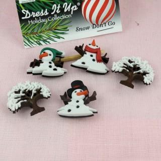 Buttons Dress it up Winter snow