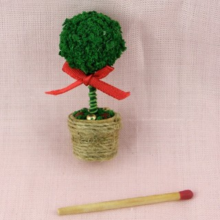 Miniature fern in basket for doll house