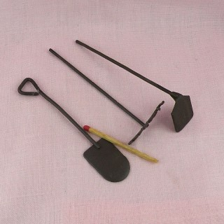 Garden miniatures accessories Set of four mini garden tools