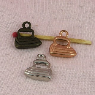 Iron bracelet charm, pendant 2 cm