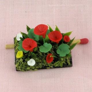 Fleurs miniature jardin maison poupée
