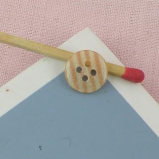 Bouton rond motif imprimé 2 trous, 9 mm, 0,9 cm.