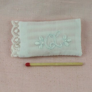 Pillow miniature for dollhouse