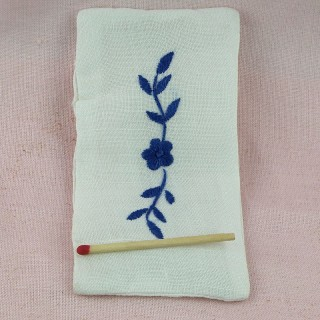 Miniature embroidered cover bed