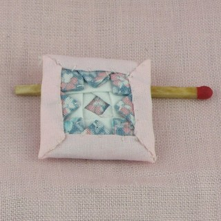 patchwork cushion miniature for dollhouse