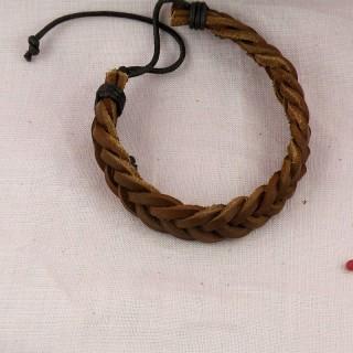 Bracelet cuir tressé pas cher